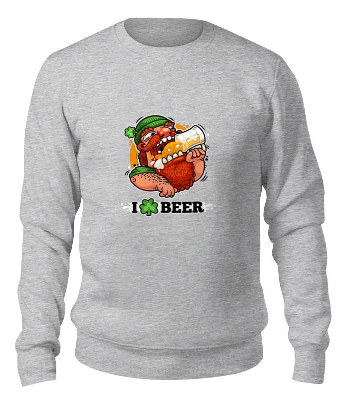 Фото - Printio Свитшот унисекс хлопковый Я люблю пиво (i love beer) printio свитшот унисекс хлопковый мам я грандмастер