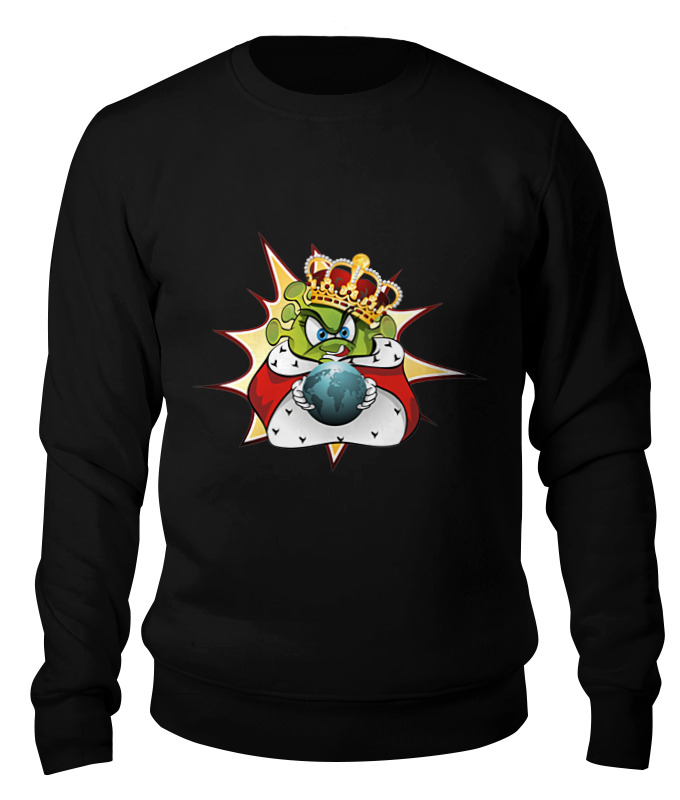 Фото - Printio Свитшот унисекс хлопковый Ковид - царь мира. printio коробка для кружек ковид царь мира