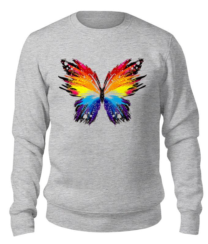 Printio Свитшот унисекс хлопковый бабочка, радуга
