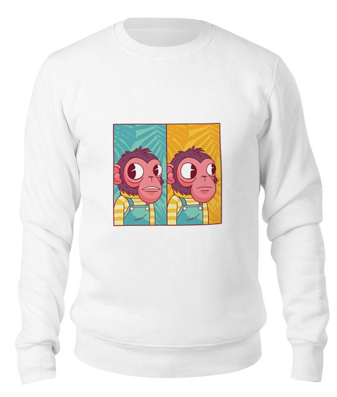 Printio Свитшот унисекс хлопковый Мем с обезьяной