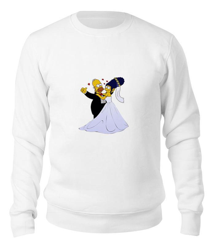 Printio Свитшот унисекс хлопковый Симпсоны- свадьба