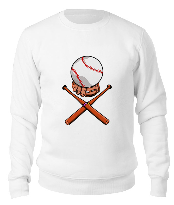 Printio Свитшот унисекс хлопковый Биты и мяч (бейсбол)