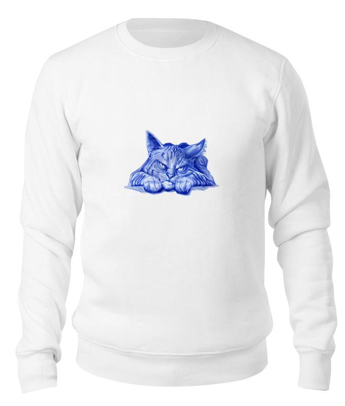 Printio Свитшот унисекс хлопковый Задумчивый кот