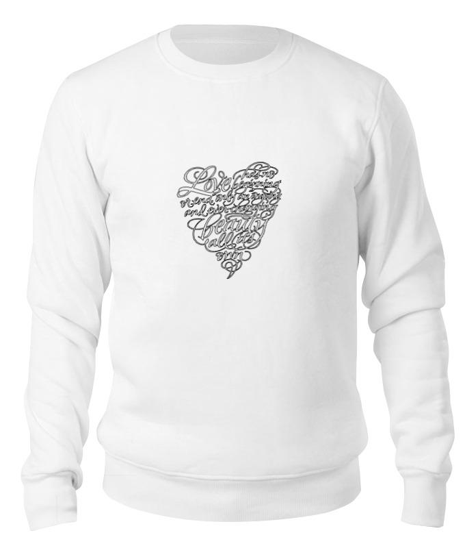 Printio Свитшот унисекс хлопковый Love lettering (сердце с надписью) свитшот с надписью из фетрина 3 12 лет