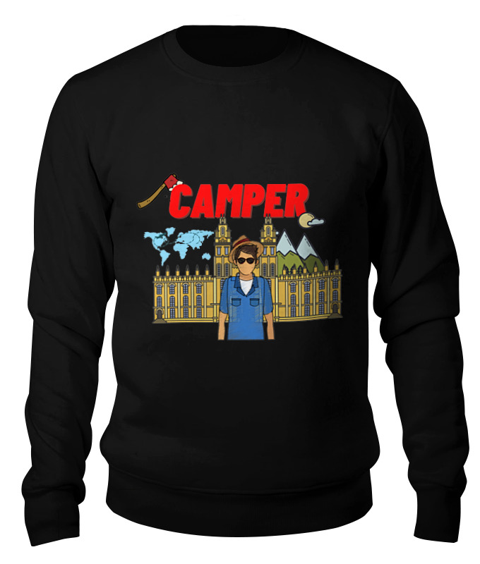 Printio Свитшот унисекс хлопковый Camper-турист