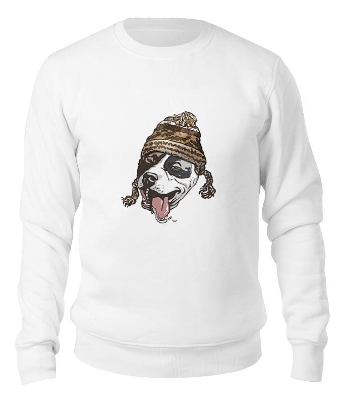 Printio Свитшот унисекс хлопковый Собака в шапке