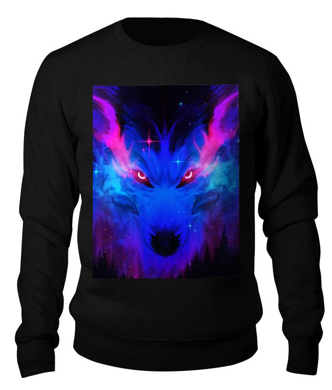 Printio Свитшот унисекс хлопковый неоновый волк