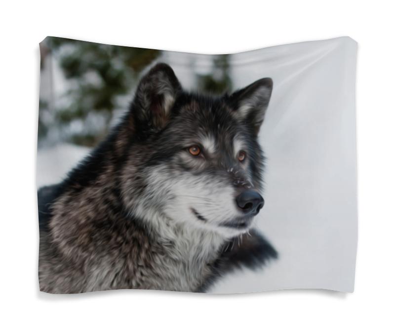 printio серый волк 1 Printio Гобелен 180х145 Серый волк