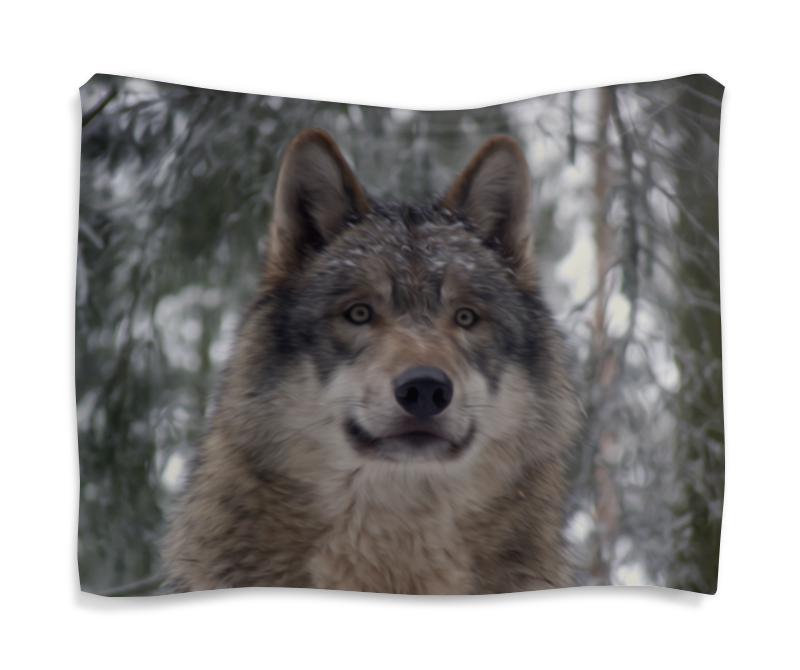 Printio Гобелен 180х145 Волк в лесу