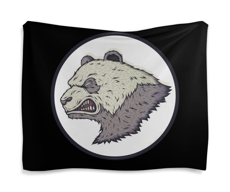 Printio Гобелен 180х145 Angry panda / злая панда