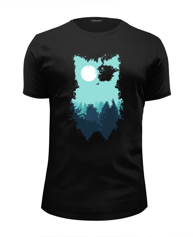 футболка wearcraft premium slim fit printio сказочная сова Printio Футболка Wearcraft Premium Slim Fit Сова (абстракция)