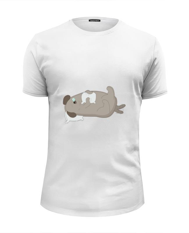 Printio Футболка Wearcraft Premium Slim Fit Спящий пёс printio футболка wearcraft premium slim fit влюблённый пёс