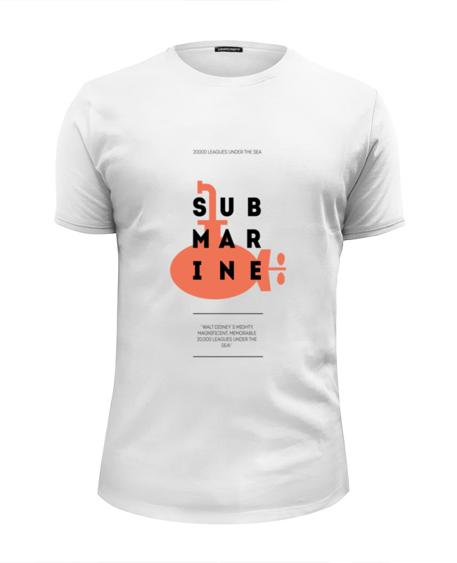 printio лонгслив submarine Printio Футболка Wearcraft Premium Slim Fit Submarine