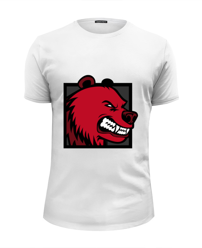 Printio Футболка Wearcraft Premium Slim Fit Red bear