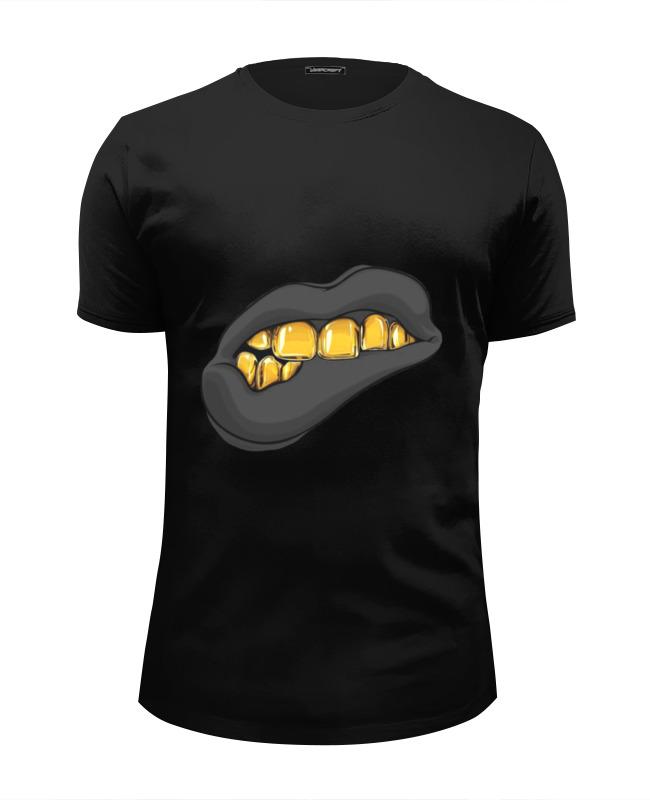 Фото - Printio Футболка Wearcraft Premium Slim Fit Золотая ухмылка printio футболка wearcraft premium slim fit я русский золотая надпись