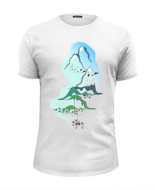 Printio Футболка Wearcraft Premium Slim Fit Горы в стиле минимализма printio футболка wearcraft premium горы в стиле минимализма