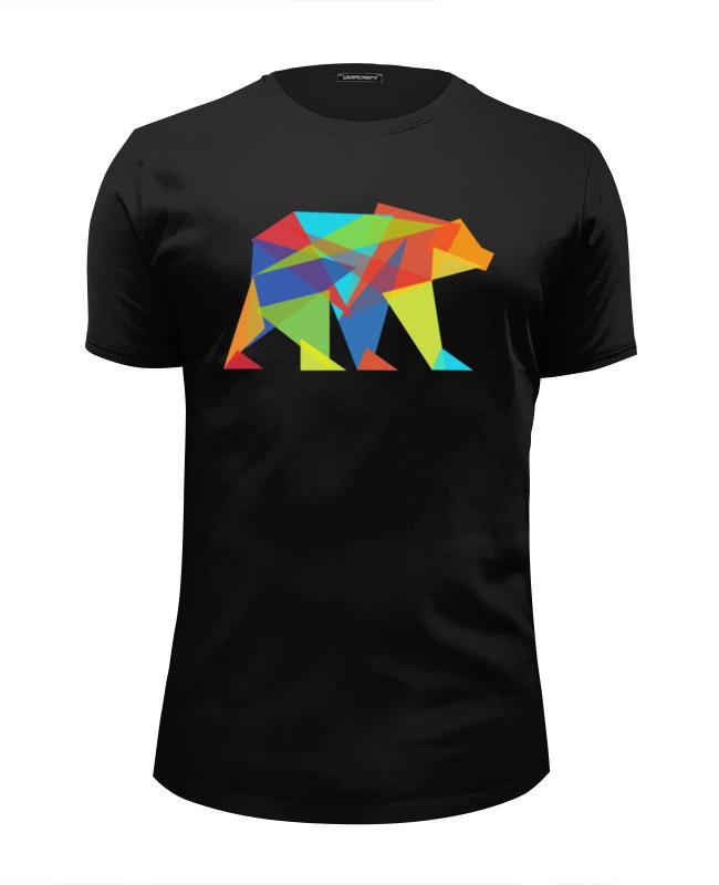 Printio Футболка Wearcraft Premium Slim Fit Геометрический медведь