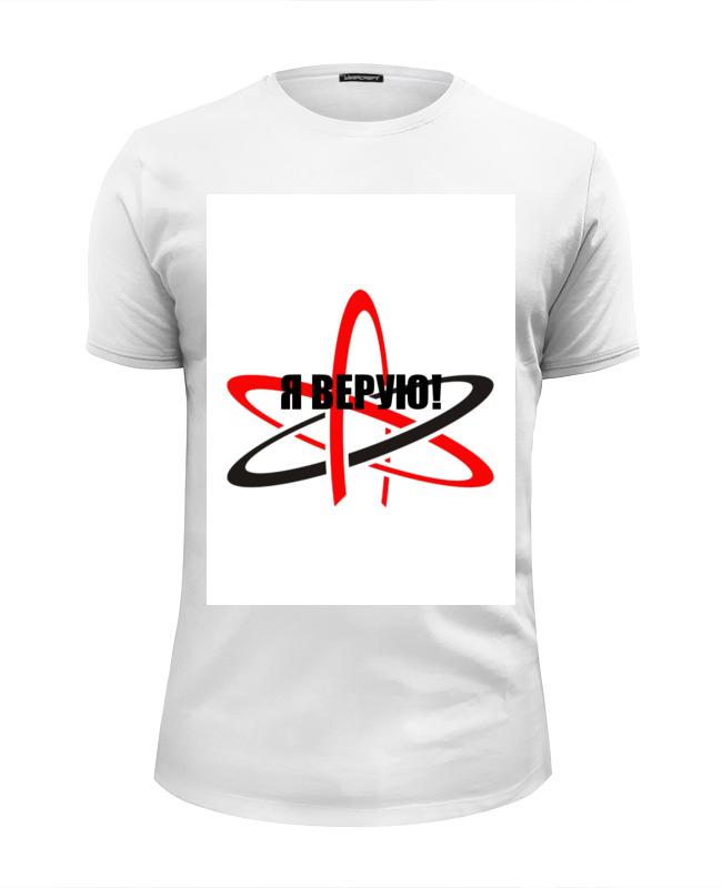 Printio Футболка Wearcraft Premium Slim Fit Символ атеизма