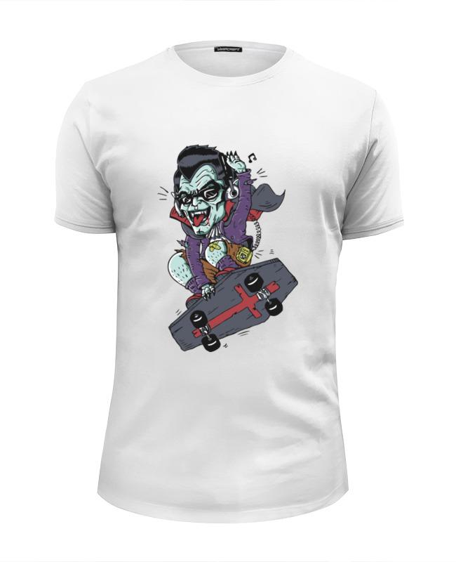 Printio Футболка Wearcraft Premium Slim Fit Дракула на скейте