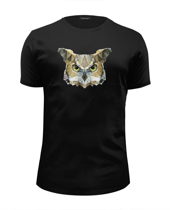 футболка wearcraft premium slim fit printio сказочная сова Printio Футболка Wearcraft Premium Slim Fit Абстрактная сова