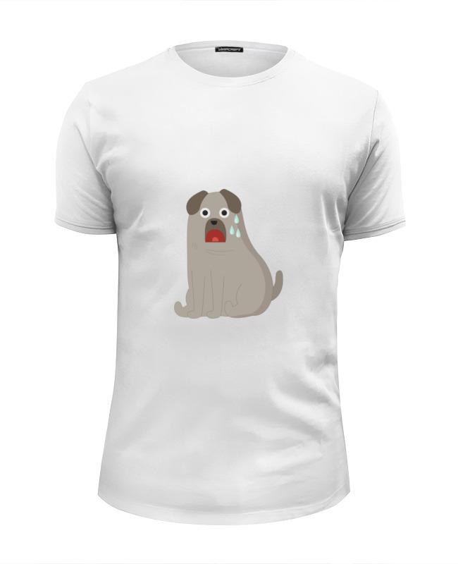 Printio Футболка Wearcraft Premium Slim Fit Грустный пёс printio футболка wearcraft premium slim fit влюблённый пёс