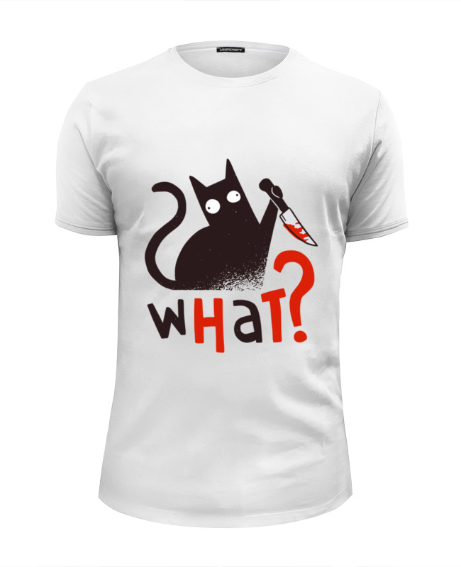 Printio Футболка Wearcraft Premium Slim Fit What cat