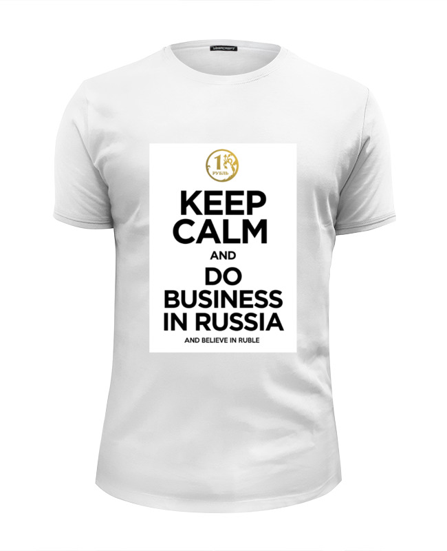 Printio Футболка Wearcraft Premium Slim Fit Keep calm by kkaravaev.ru printio keep calm by kkaravaev ru