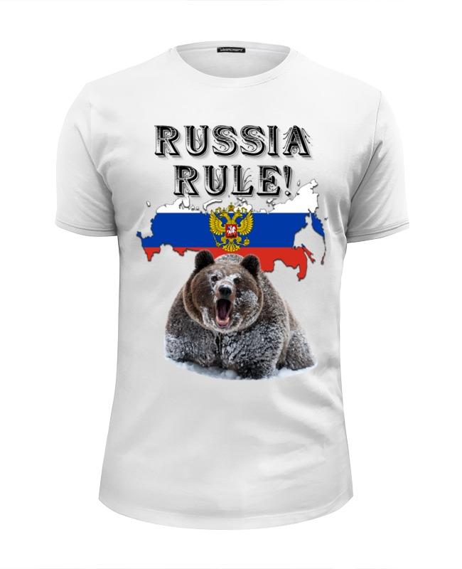Фото - Printio Футболка Wearcraft Premium Slim Fit Russia rule!, типа стрэйч printio футболка wearcraft premium slim fit ✱rule your mind✱