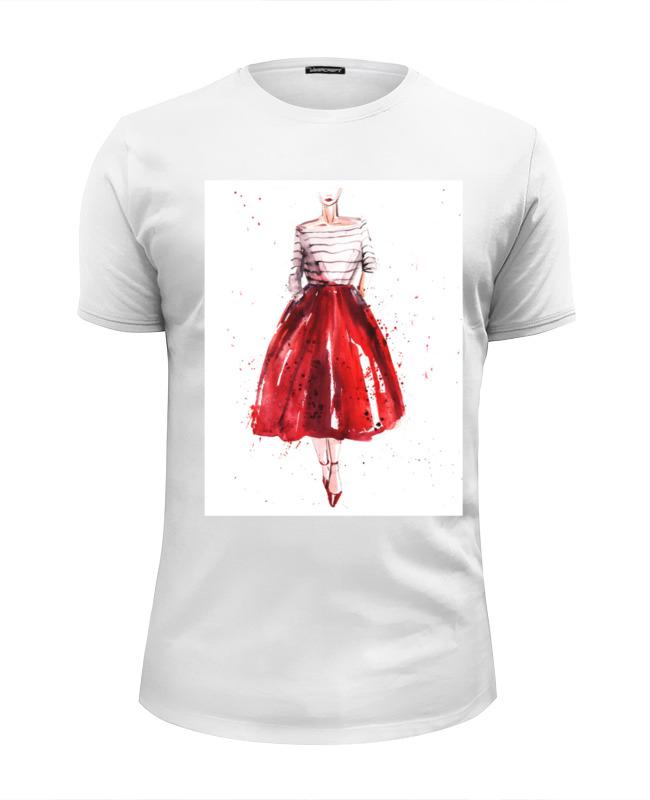 Printio Футболка Wearcraft Premium Slim Fit Red skirt, red lips