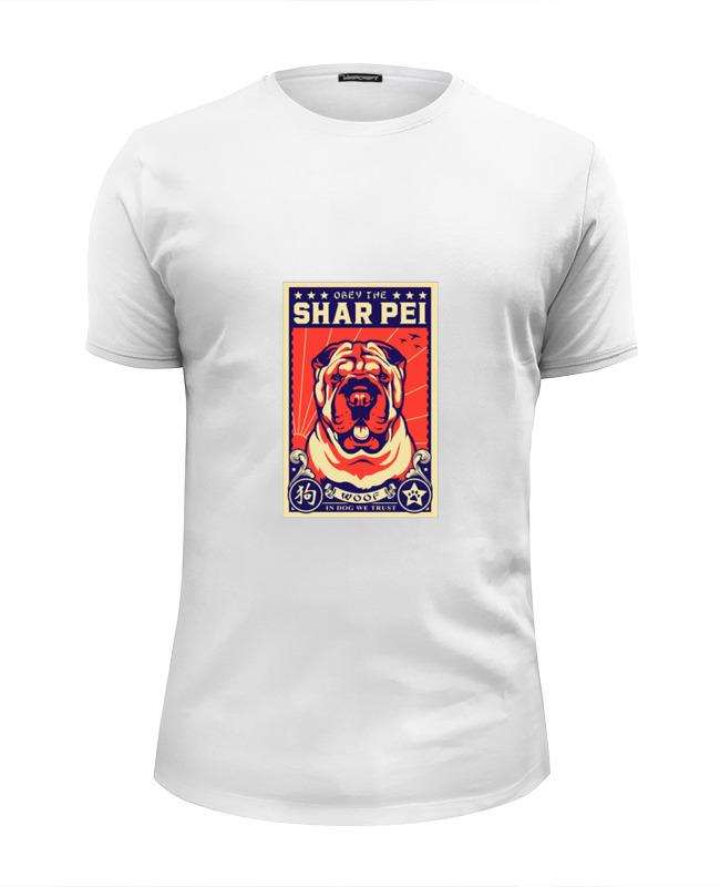 Printio Футболка Wearcraft Premium Slim Fit Собака: shar pei футболка wearcraft premium slim fit printio собака shar pei