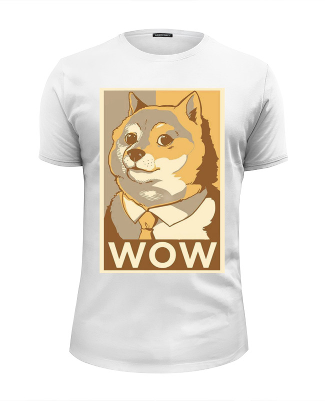 printio футболка wearcraft premium slim fit doge wow Printio Футболка Wearcraft Premium Slim Fit Such doge