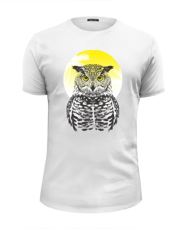 футболка wearcraft premium slim fit printio сказочная сова Printio Футболка Wearcraft Premium Slim Fit Солнечная сова