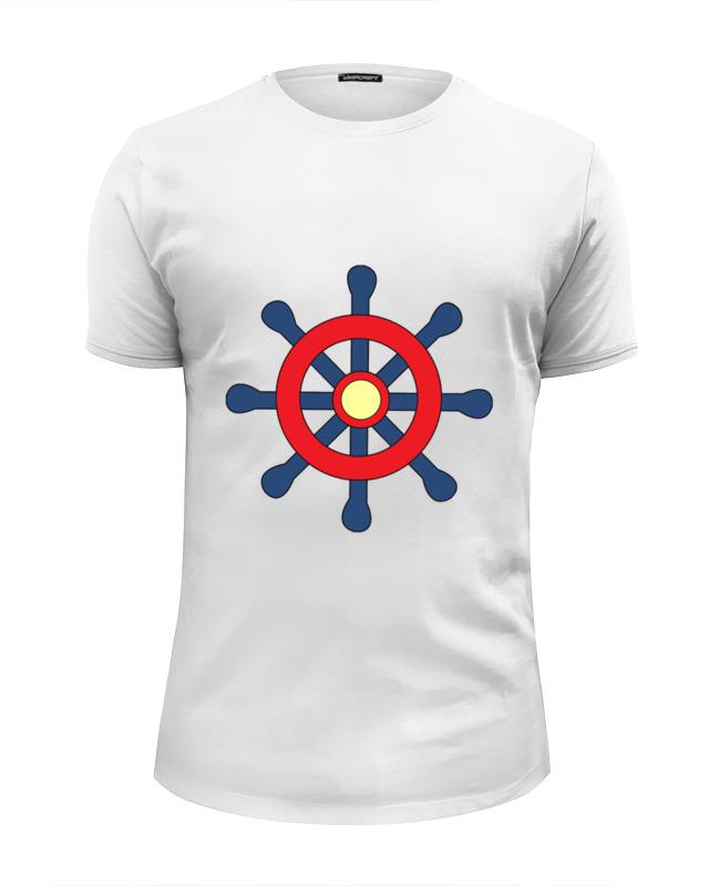 printio футболка wearcraft premium slim fit военно морской флот Printio Футболка Wearcraft Premium Slim Fit Морской штурвал
