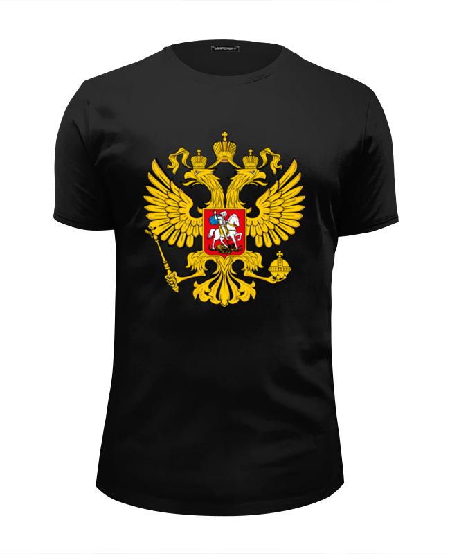 Printio Футболка Wearcraft Premium Slim Fit Российский герб недорого