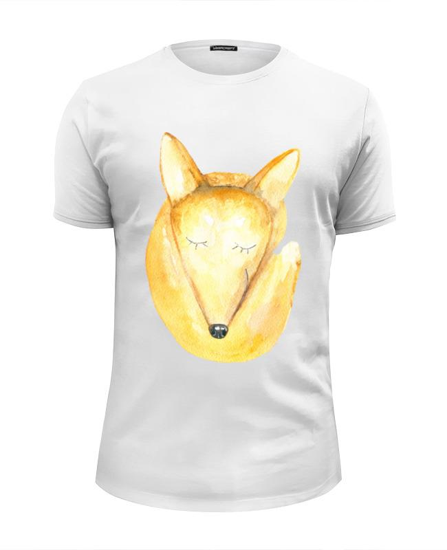 Printio Футболка Wearcraft Premium Slim Fit Спящий лис printio футболка wearcraft premium slim fit спящий медвежонок