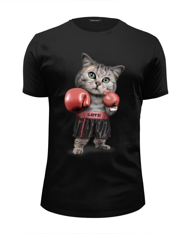 Printio Футболка Wearcraft Premium Slim Fit Кот боксёр футболка wearcraft premium slim fit printio кот гарфилд