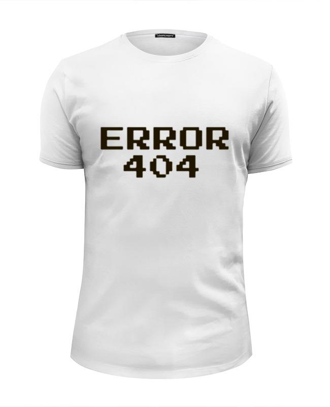 Printio Футболка Wearcraft Premium Slim Fit Ошибка 404 футболка wearcraft premium printio 404 not found