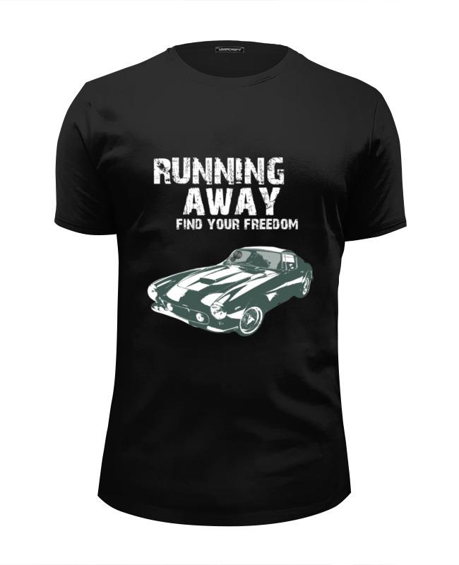Фото - Printio Футболка Wearcraft Premium Slim Fit Running away..find your freedom..автомобиль printio футболка wearcraft premium slim fit ✱rule your mind✱