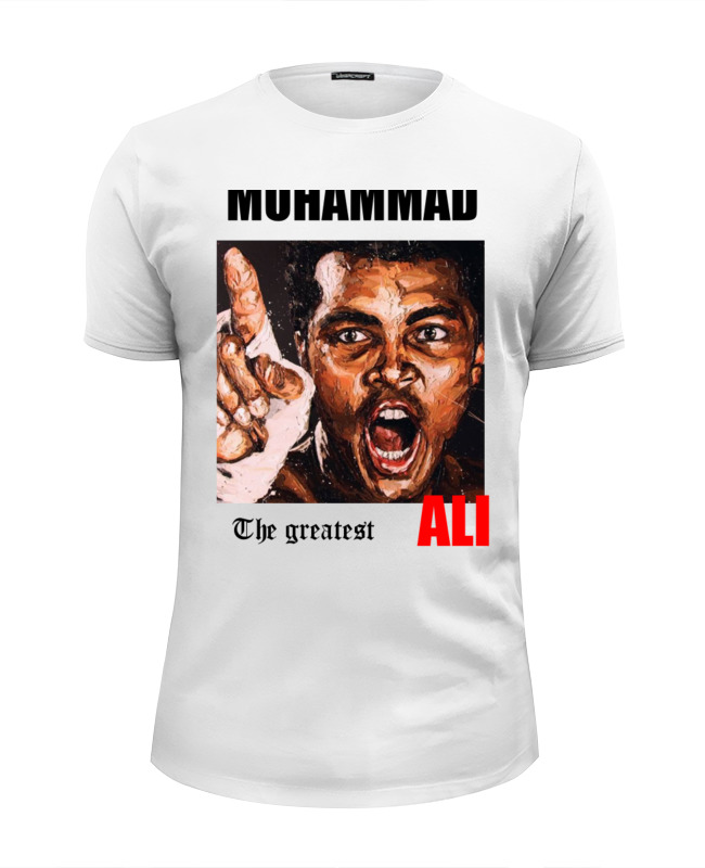 Printio Футболка Wearcraft Premium Slim Fit Muhhamad ali the greatest printio футболка wearcraft premium slim fit muhammad ali