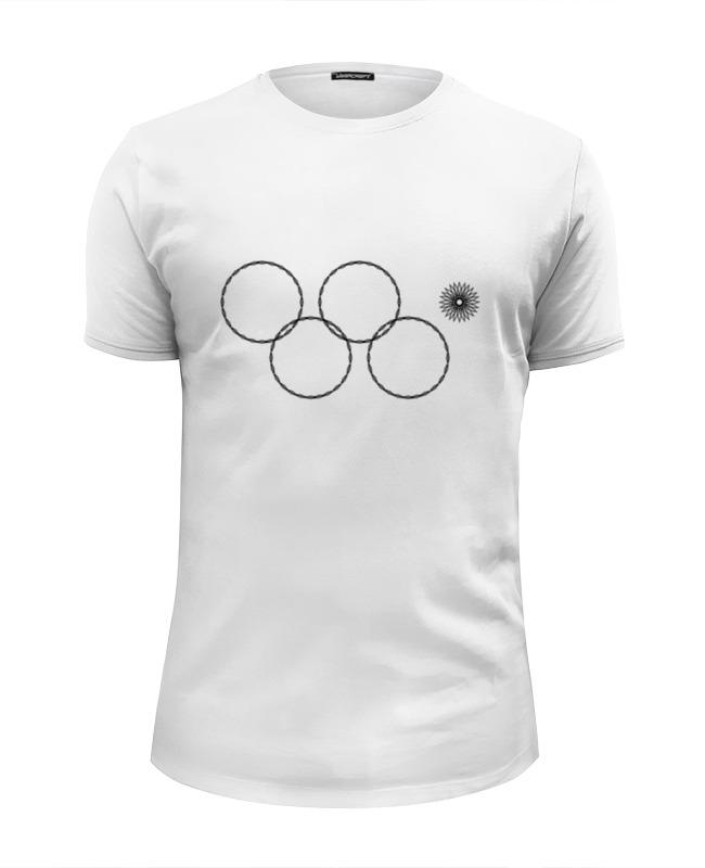Printio Футболка Wearcraft Premium Slim Fit Олимпийские кольца в сочи 2014