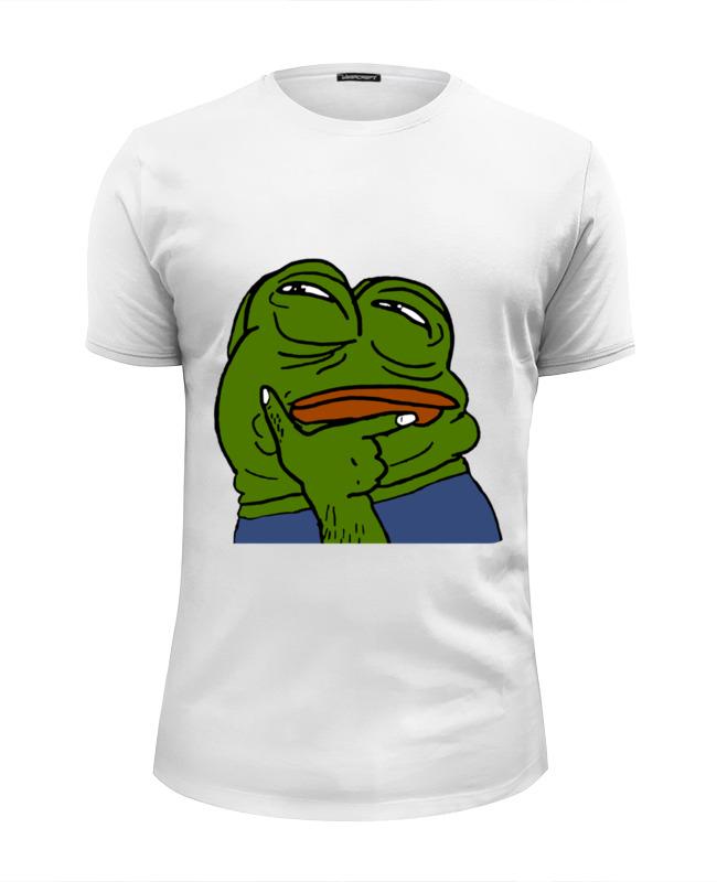 Фото - Printio Футболка Wearcraft Premium Slim Fit Pepe the frog printio сумка pepe the frog whant some love