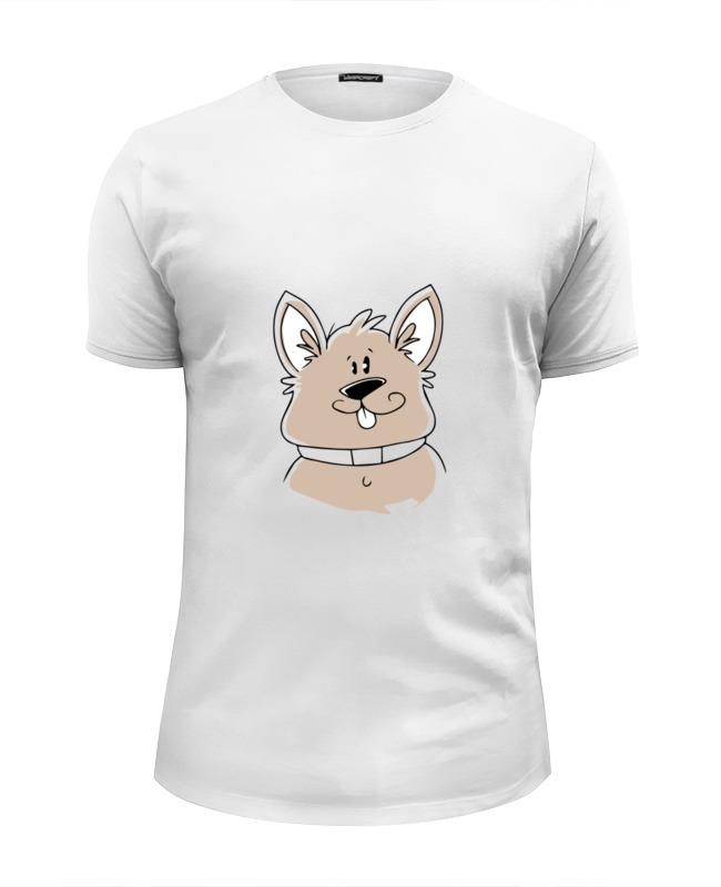 Printio Футболка Wearcraft Premium Slim Fit Весёлый пёс printio футболка wearcraft premium slim fit влюблённый пёс