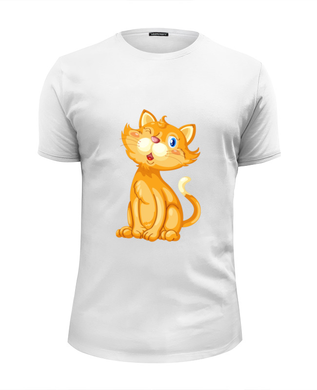 Printio Футболка Wearcraft Premium Slim Fit Рыжий кот футболка wearcraft premium slim fit printio кот гарфилд