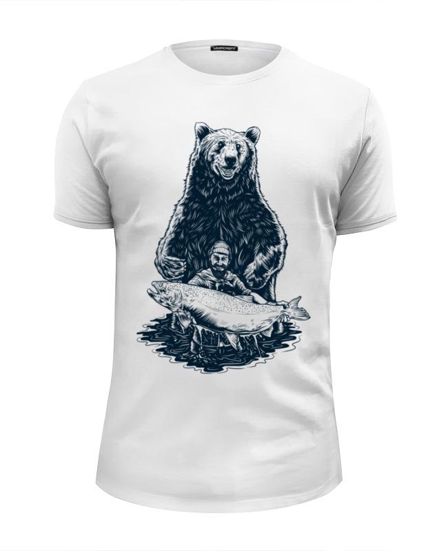 Фото - Printio Футболка Wearcraft Premium Slim Fit Медвежья рыбалка printio футболка wearcraft premium slim fit рыбалка 1