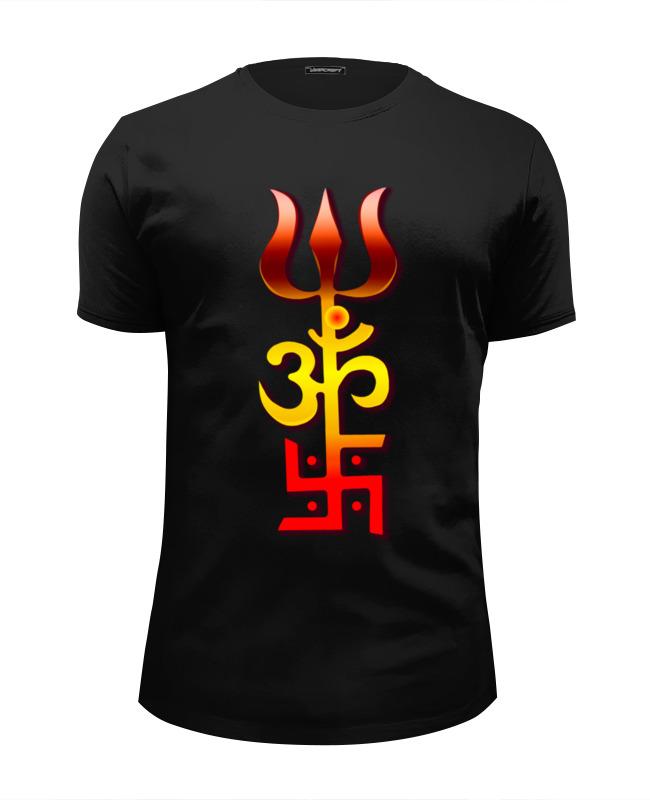 Фото - Printio Футболка Wearcraft Premium Slim Fit Индуистский оберег printio футболка классическая 3 индийских символа для счастливой жизни