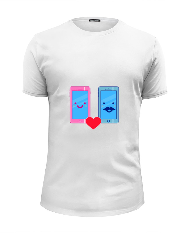 Printio Футболка Wearcraft Premium Slim Fit Телефоны влюблены