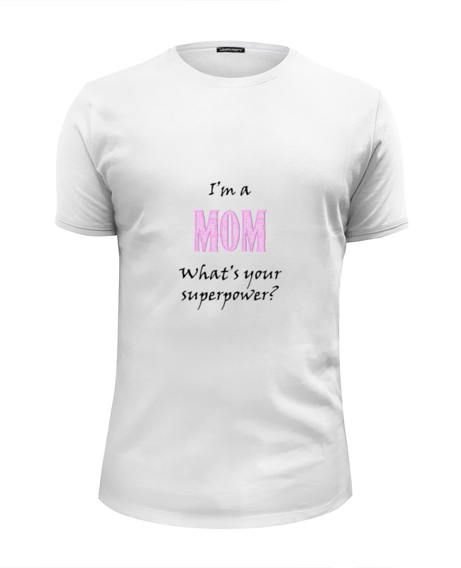 Printio Футболка Wearcraft Premium Slim Fit Я мама printio футболка wearcraft premium я казак