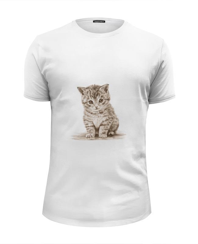 Printio Футболка Wearcraft Premium Slim Fit Милый котёнок