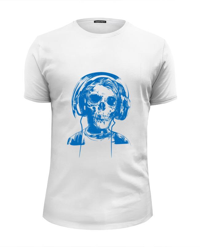 футболка wearcraft premium printio i love music Printio Футболка Wearcraft Premium Slim Fit I love music (череп в наушниках)