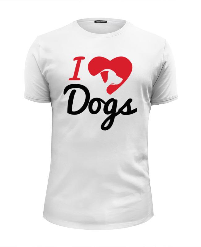 Фото - Printio Футболка Wearcraft Premium Slim Fit Я люблю собак printio футболка wearcraft premium люблю собак